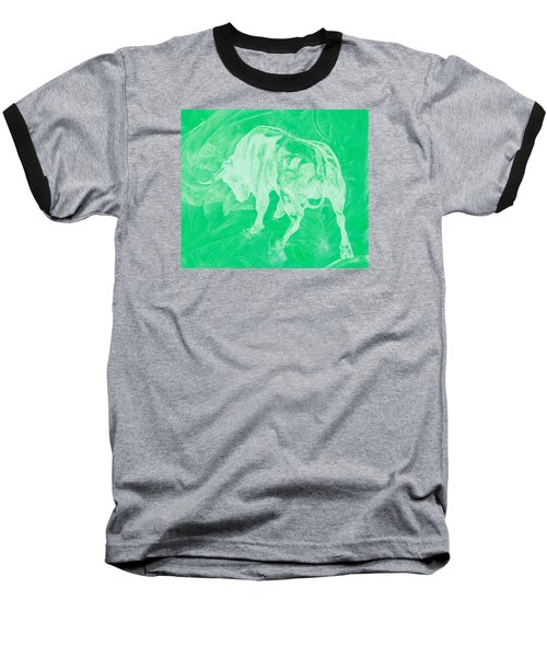 Green Bull Negative Baseball T-Shirt