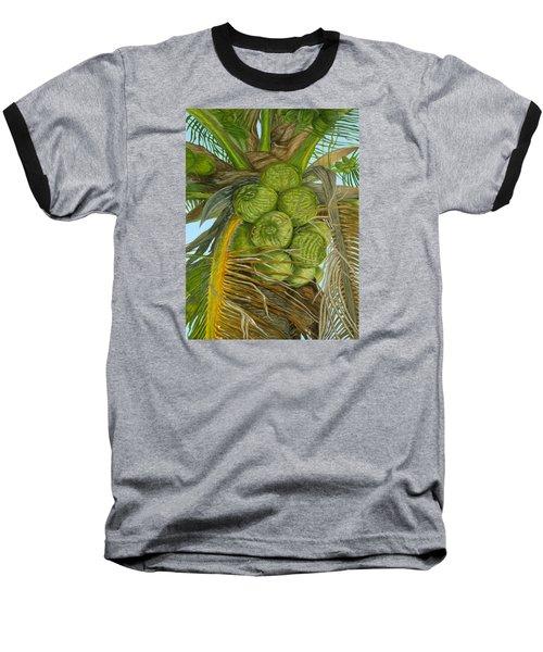 Green Coconut Baseball T-Shirt