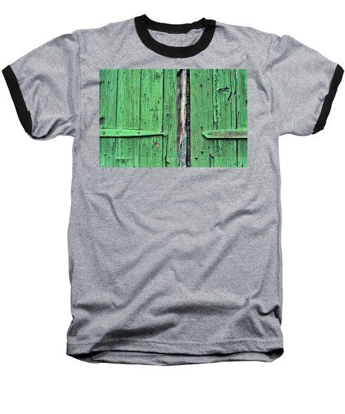 Green Door Baseball T-Shirt by Steve Archbold