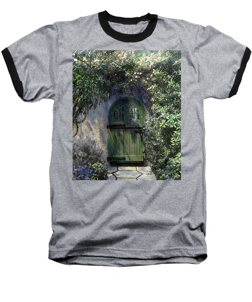 Green Door Baseball T-Shirt by Terry Reynoldson