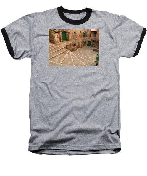 Green Doors Baseball T-Shirt by Alan Socolik