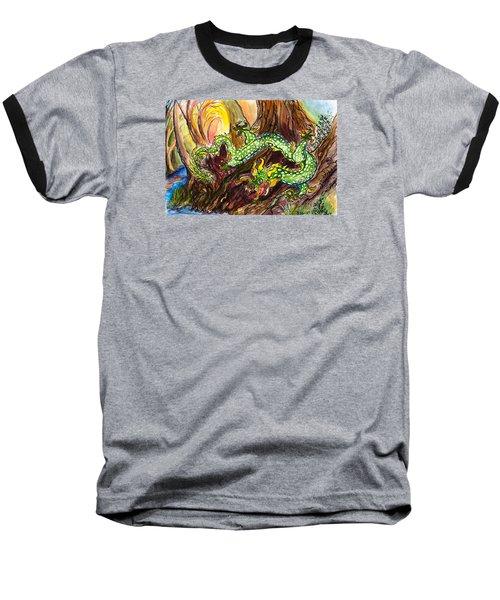 Green Earth Dragon Baseball T-Shirt