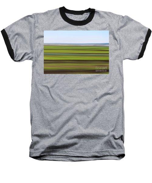 Green Field Abstract Baseball T-Shirt