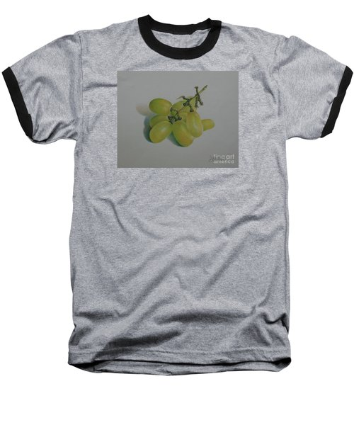 Baseball T-Shirt featuring the painting Green Grapes by Pamela Clements