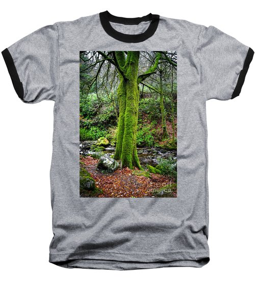 Green Green Moss Baseball T-Shirt