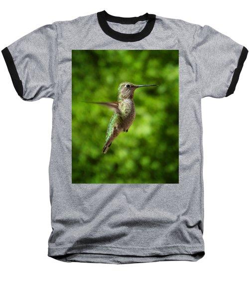 Green Hummingbird Baseball T-Shirt