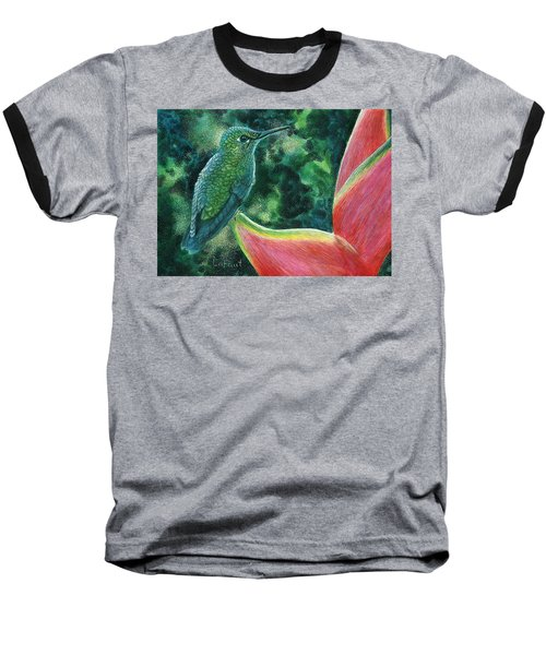 Green Hummingbird Baseball T-Shirt