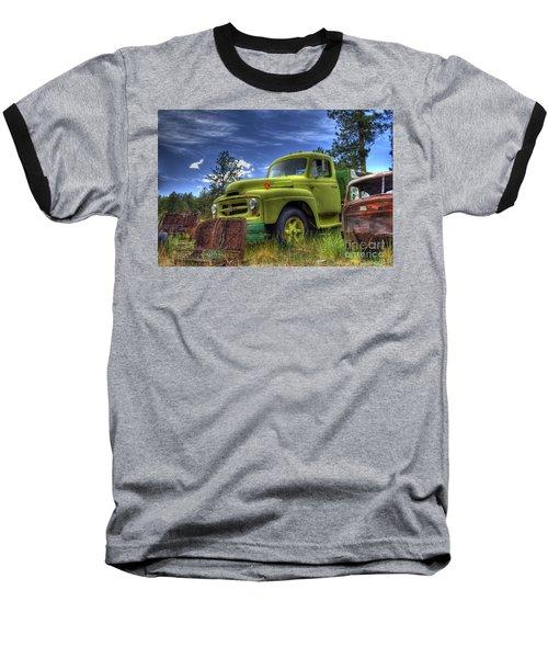 Green International Baseball T-Shirt