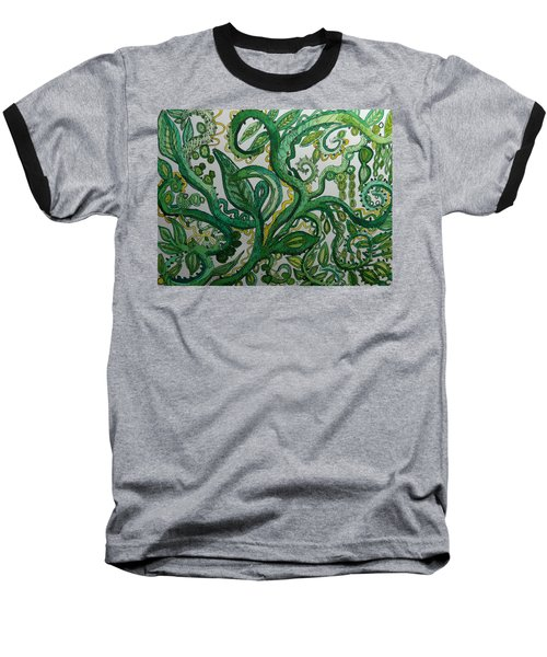 Green Meditation Baseball T-Shirt