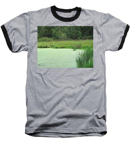 Baseball T-Shirt featuring the photograph Green Moss by Tina M Wenger