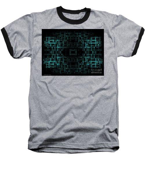 Green Network Baseball T-Shirt by Anita Lewis