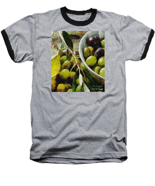 Green Olives Baseball T-Shirt by Dragica  Micki Fortuna