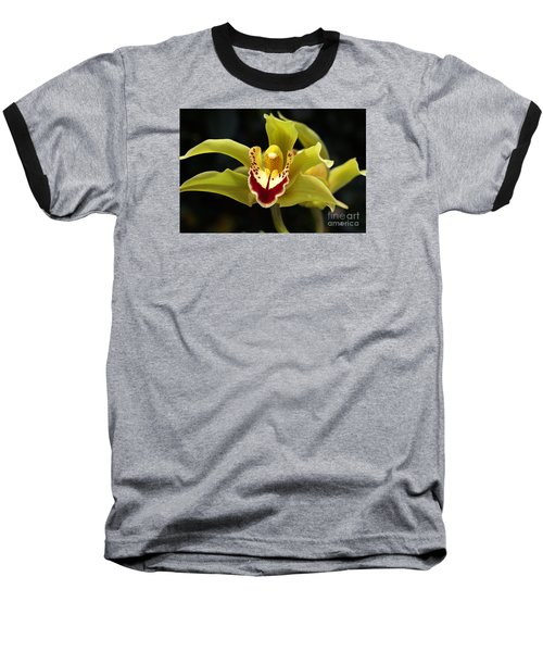 Green Orchid Flower Baseball T-Shirt