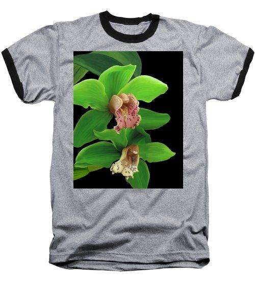 Green Orchids Baseball T-Shirt
