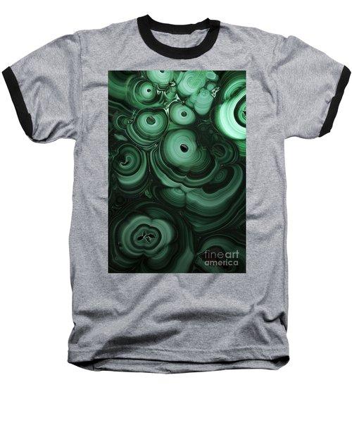 Green Patterns Of Malachite Baseball T-Shirt