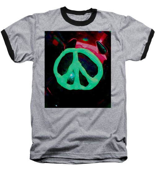 Peace Symbol Baseball T-Shirt