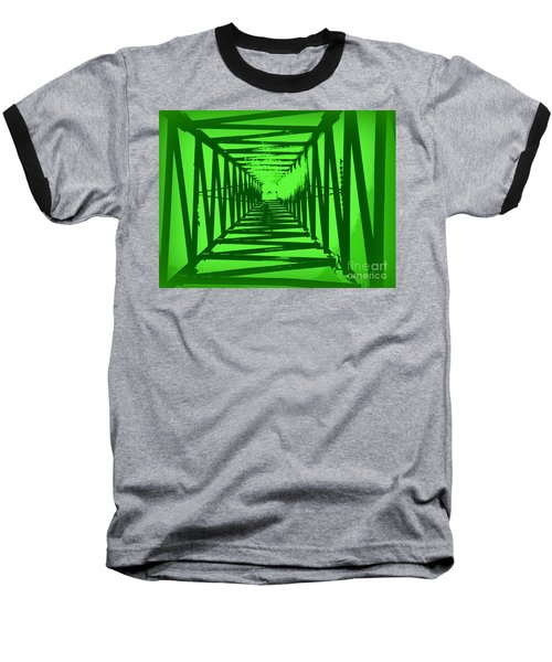 Baseball T-Shirt featuring the photograph Green Perspective by Clare Bevan