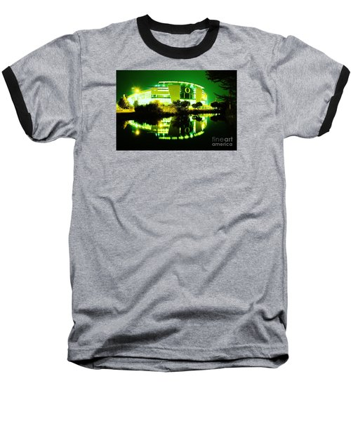 Green Power- Autzen At Night Baseball T-Shirt
