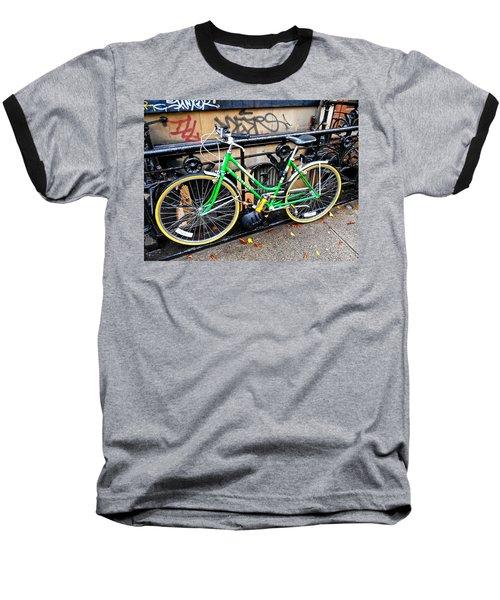 Green Schwinn Bike  Nyc Baseball T-Shirt
