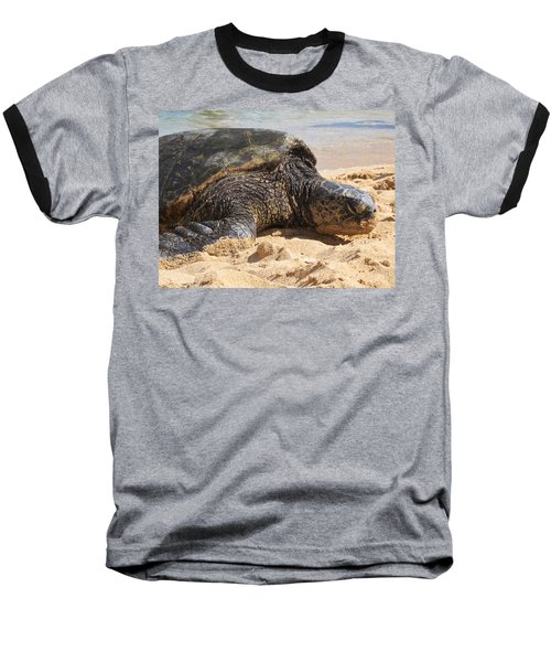 Green Sea Turtle 2 - Kauai Baseball T-Shirt