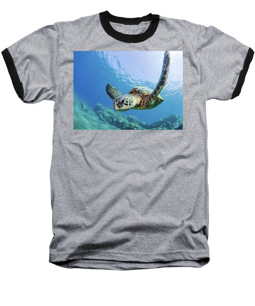 Green Sea Turtle - Maui Baseball T-Shirt
