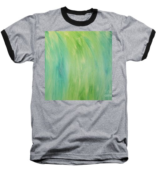 Baseball T-Shirt featuring the painting Green Shades by Barbara Yearty