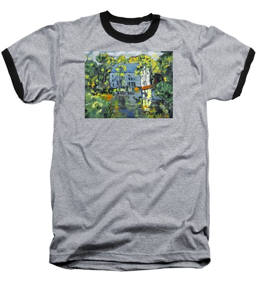 Baseball T-Shirt featuring the painting Green Township Mill House by Michael Daniels