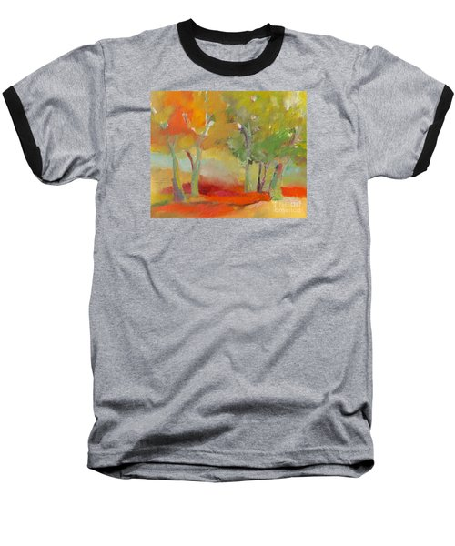 Baseball T-Shirt featuring the painting Green Trees by Michelle Abrams