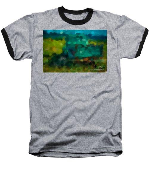 Green Truck In Abstract Baseball T-Shirt