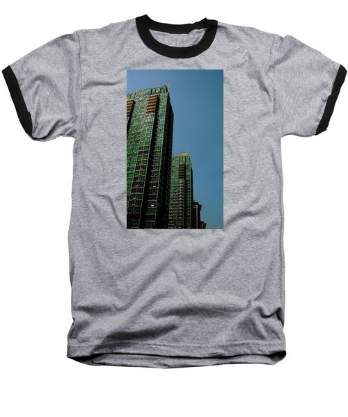 Green Vancouver Towers Baseball T-Shirt