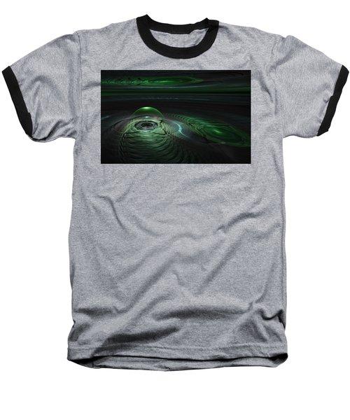Baseball T-Shirt featuring the digital art Greenland Outpost by GJ Blackman