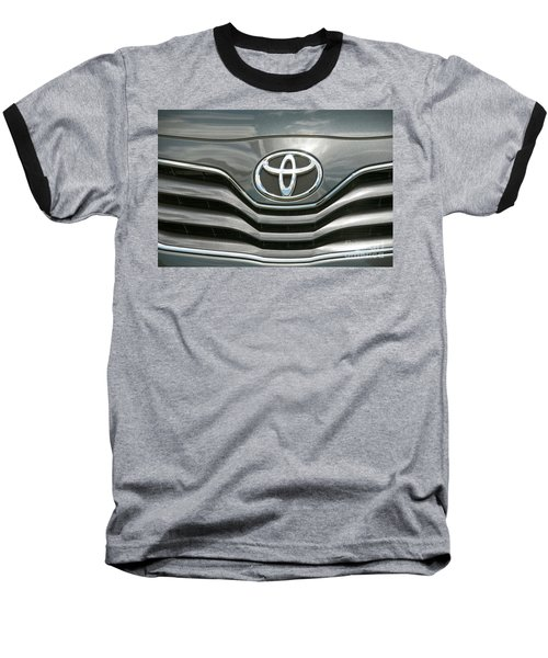 Grey Toyota Grill And Emblem Smile Baseball T-Shirt