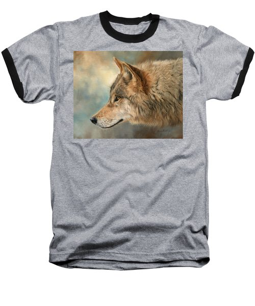 Grey Wolf 3 Baseball T-Shirt