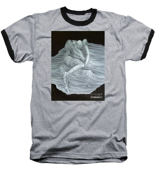 Baseball T-Shirt featuring the painting Greyish Revelation by Fei A
