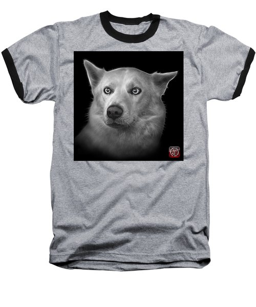 Greyscale Mila - Siberian Husky - 2103 - Bb Baseball T-Shirt