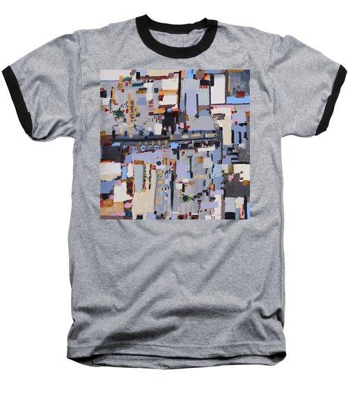 Gridlock Baseball T-Shirt by Regina Valluzzi