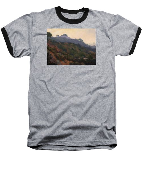 Griffith Park Observatory- Late Morning Baseball T-Shirt by Jane Thorpe