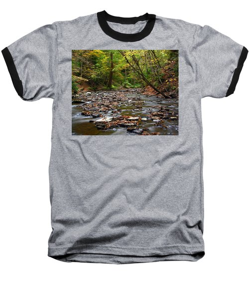 Creek Walk Baseball T-Shirt by Richard Engelbrecht
