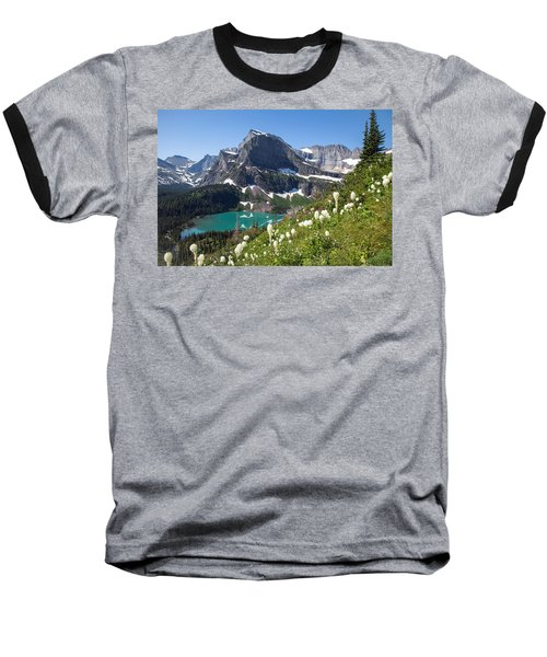 Grinnell Lake With Beargrass Baseball T-Shirt