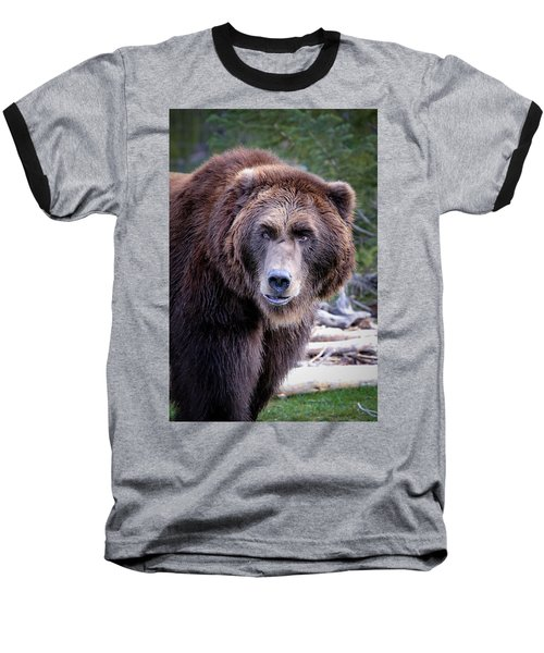 Baseball T-Shirt featuring the photograph Grizzly by Athena Mckinzie