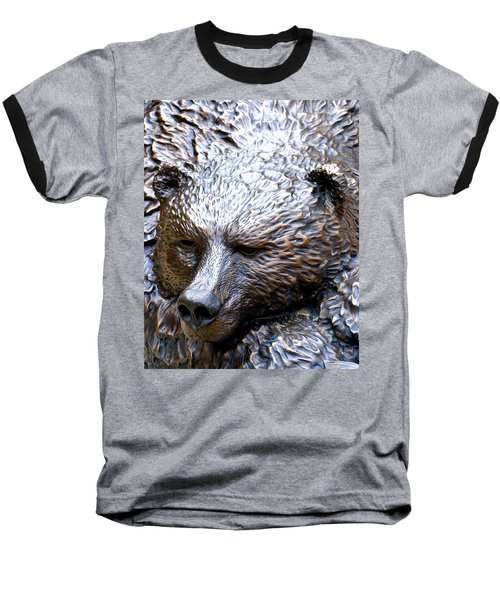 Grizzly Baseball T-Shirt by Charlie and Norma Brock