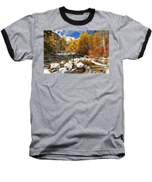 Baseball T-Shirt featuring the photograph Grizzly Creek Canyon by Jeremy Rhoades