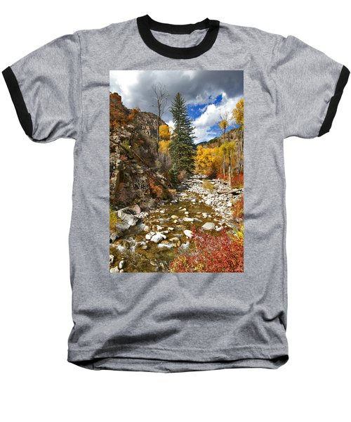 Baseball T-Shirt featuring the photograph Grizzly Creek Cottonwoods Vertical by Jeremy Rhoades