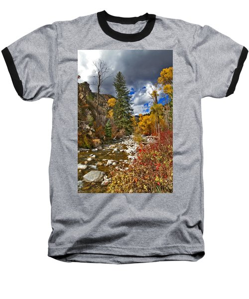 Baseball T-Shirt featuring the photograph Grizzly Creek Vertical by Jeremy Rhoades