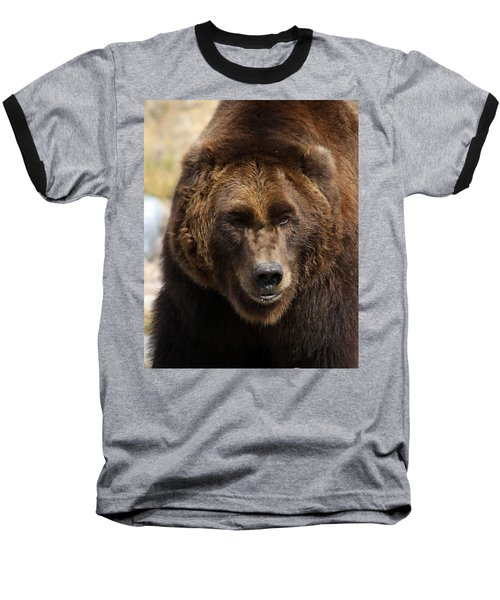 Baseball T-Shirt featuring the photograph Grizzly by Steve McKinzie