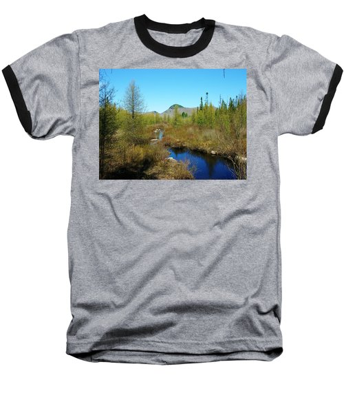 Baseball T-Shirt featuring the photograph Groton State Forest Moose Country by Sherman Perry