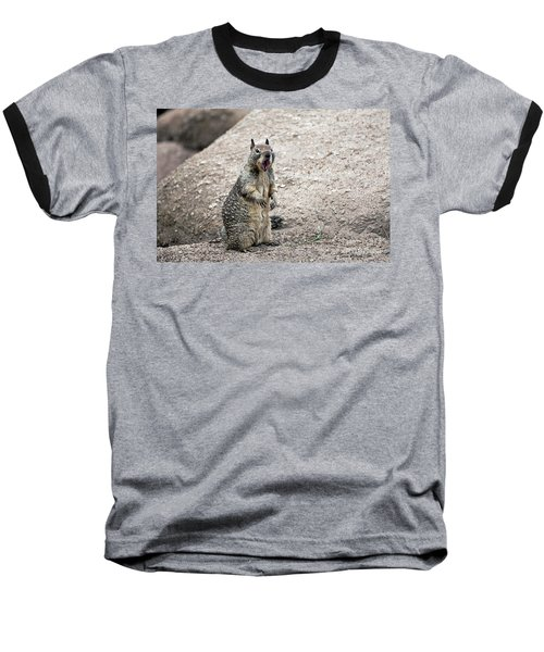 Baseball T-Shirt featuring the photograph Ground Squirrel Raising A Ruckus by Susan Wiedmann