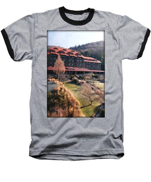 Grove Park Inn In Early Winter Baseball T-Shirt