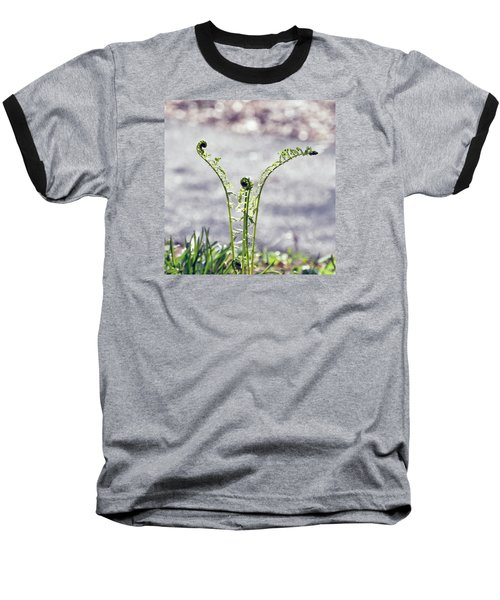 Growing  Baseball T-Shirt by Kerri Farley
