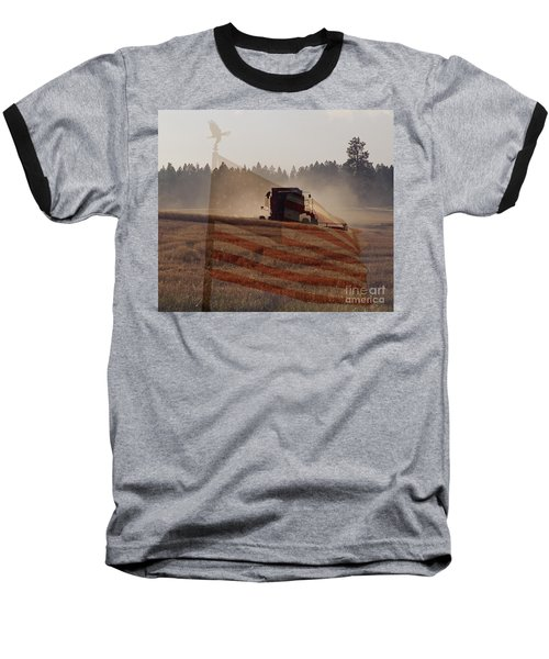 Grown In America Baseball T-Shirt by Sharon Elliott